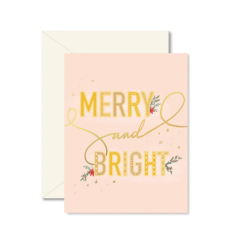 Merry + Bright Greeting card