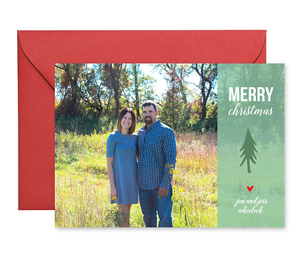 Wheelock little tree christmas card