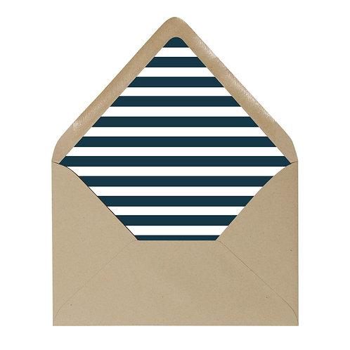 Striped Envelope Liner