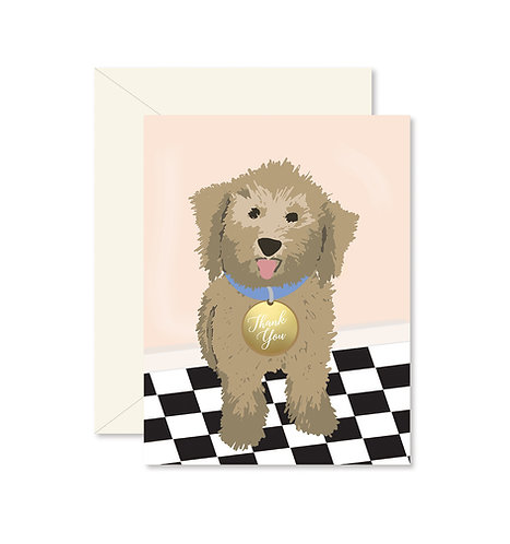 Dog Thank You Greeting Card