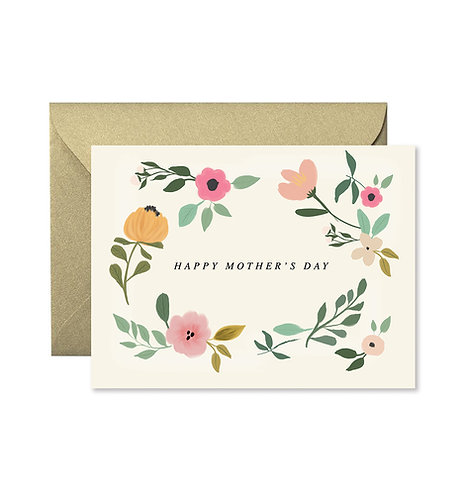 Mother's Day Floral Greeting Card