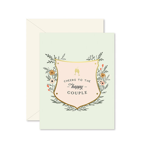 Cheers Happy Couple Greeting Card