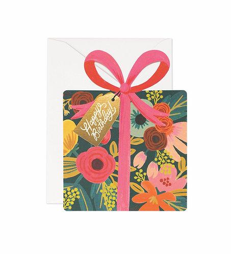 Die-cut present Birthday Greeting Card