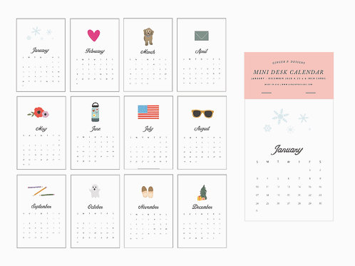 2021 Mini Desk Calendar