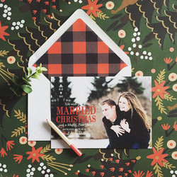 Married Christmas Save the Date