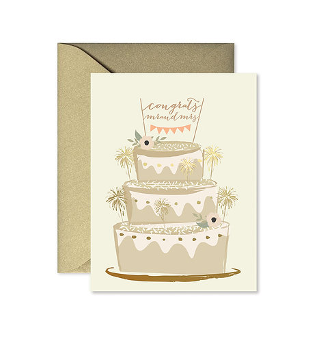 Sparkler Cake Greeting Card