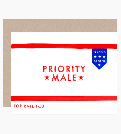 Priority Male Greeting Card