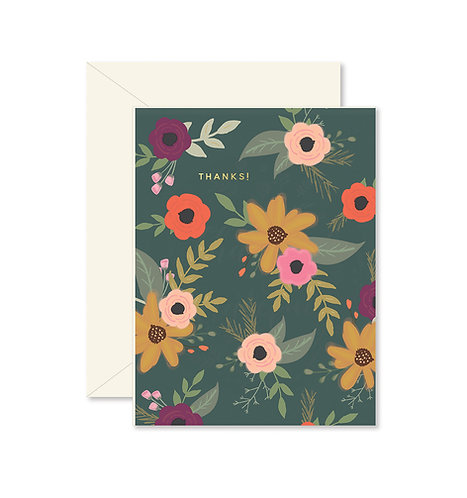 Floral Thanks! Greeting Card