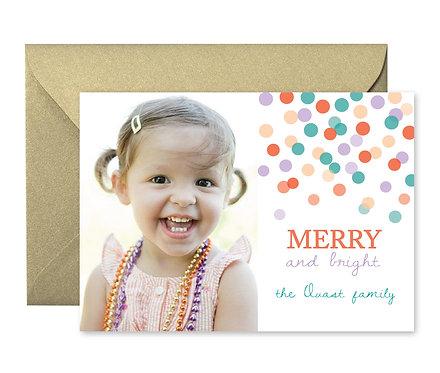 Christmas Confetti card