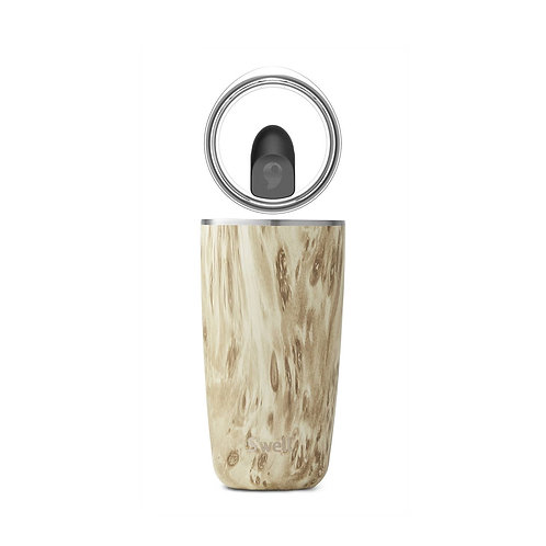 Stainless Steel Tumbler with Lid - Blonde Wood - 18oz