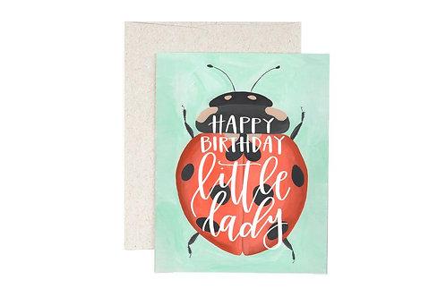 Ladybug Birthday Greeting Card