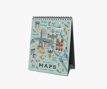 2021 Desk Calendar - Maps