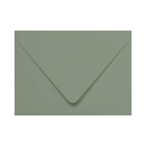 Pine Green Colored Envelope