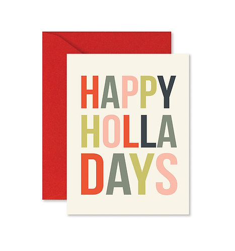 Happy Holla Days Greeting Card