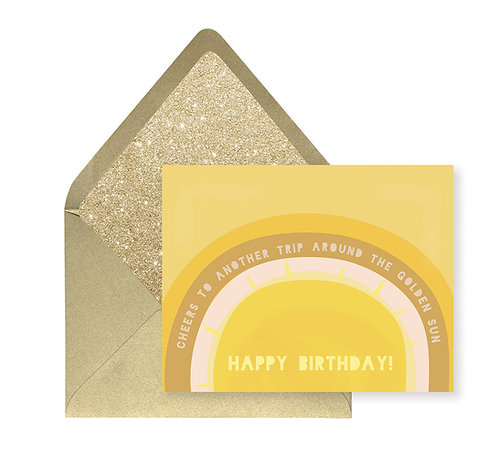 Birthday Sun Greeting Card