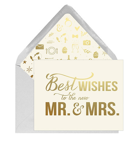 Best Wishes Mr. and Mrs. Greeting Card