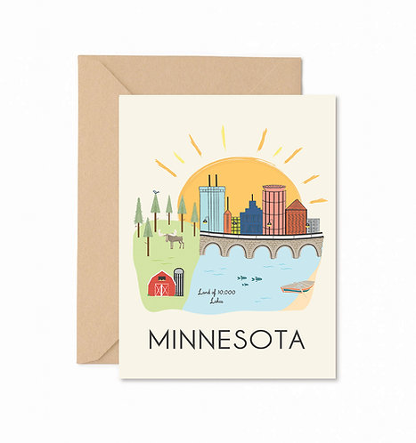 Minnesota Greeting Card