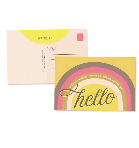 Hello Sunshine Postcard Set