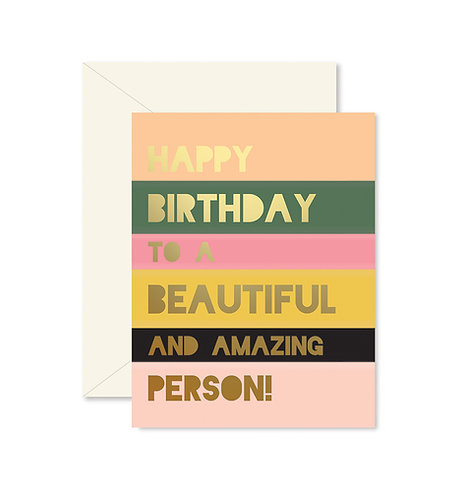 Beautiful and Amazing Colorblock Greeting Card