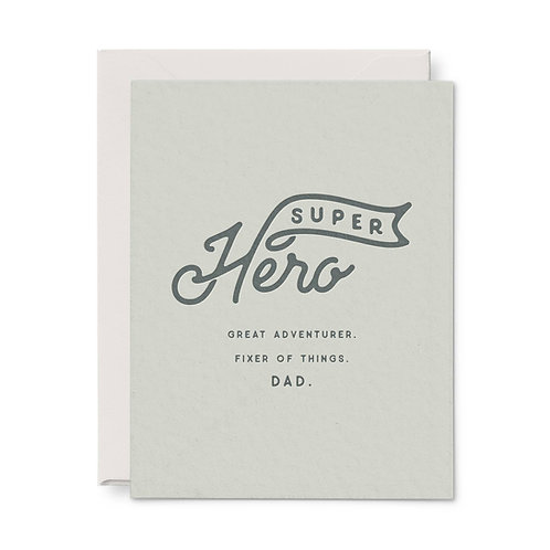 Super Hero Dad Greeting Card