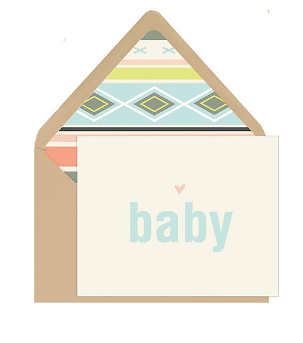 Baby Aqua Stripes Greeting Card