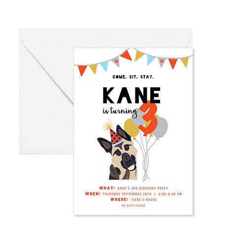Doggie Birthday Invites