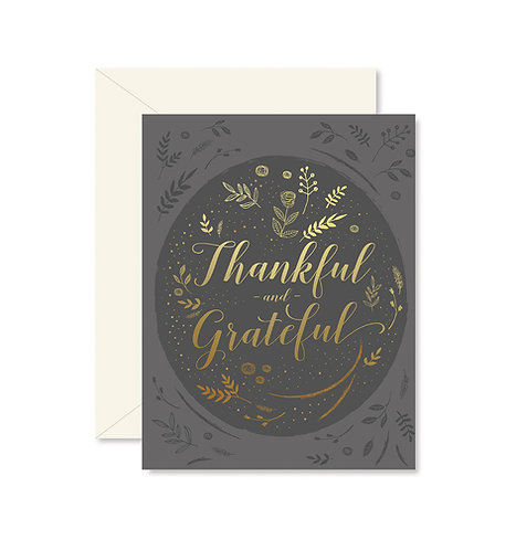 Thankful and Grateful Greeting Card