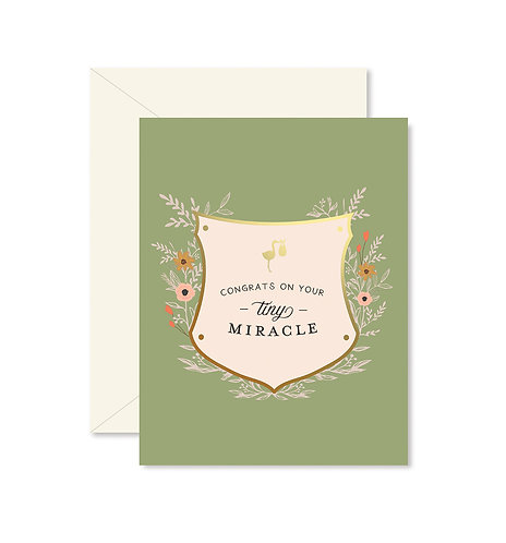 Tiny Miracle Greeting Card