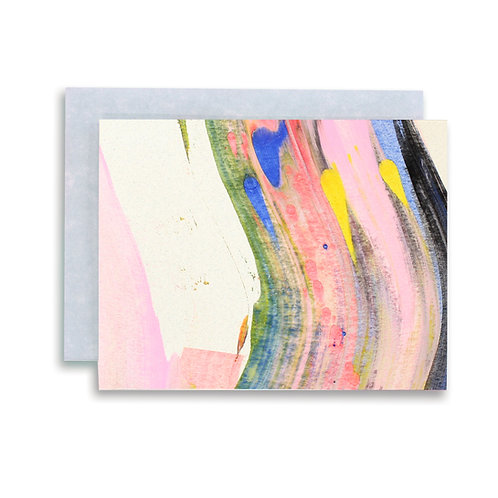 Rainbow Swirl Stationery Set