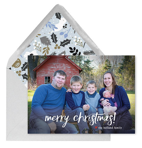 Holland Print Christmas card