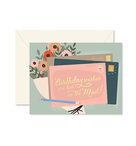 Birthday Wishes in the Mail Greeting Card