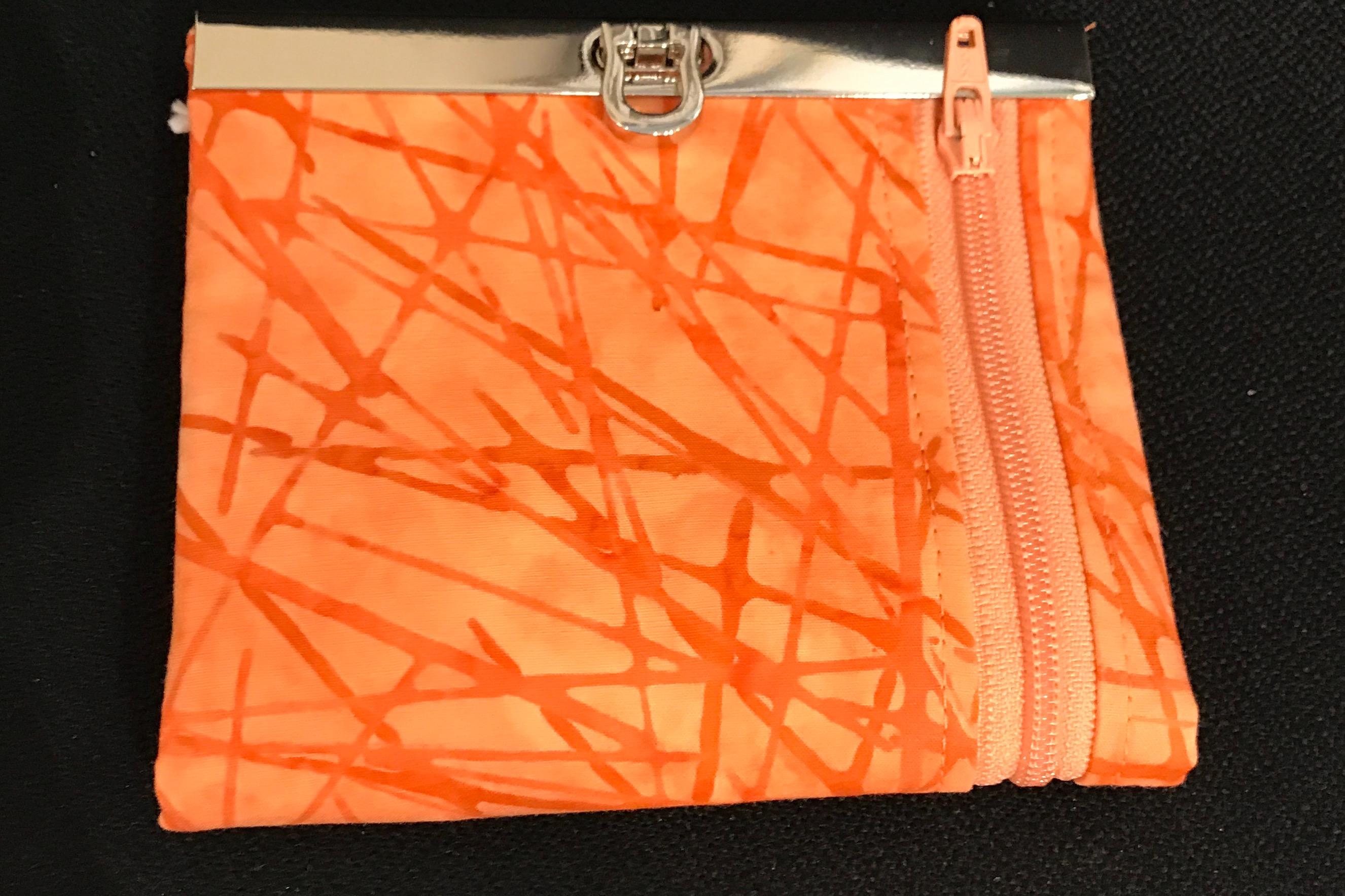 Orange Batik Purse