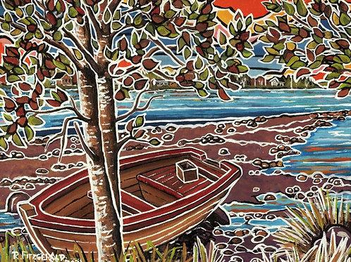 """Beached by a Birch"" Original (2021) 16 x 20"" Canvas"
