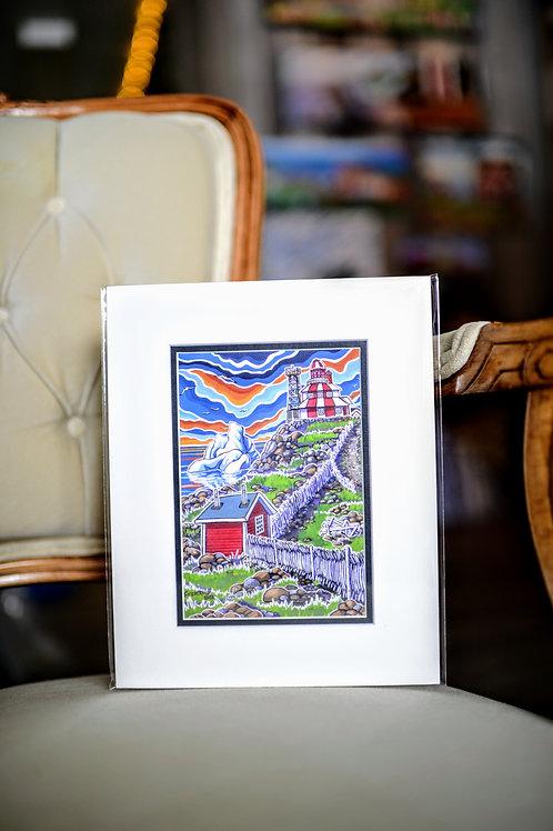 """""""Cape Bonavista"""" 5X7 Matted Print (Reilly Fitzgerald Artist)"""
