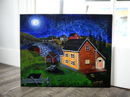 """""""Full Moon"""" (2012) Reilly Fitzgerald Artist Original  16 X 20"""""""
