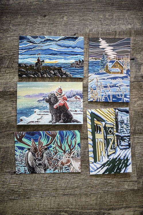 Assorted Note Card Pack Of 5 #1