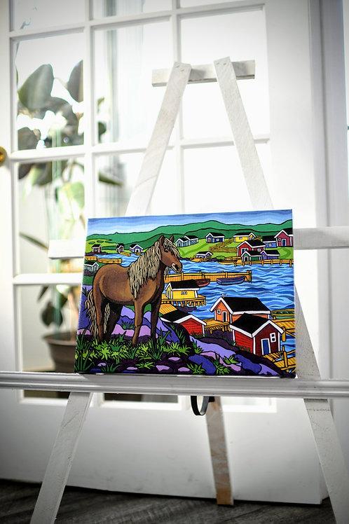 """""""Newfoundland Pony"""" Canvas Print by Reilly Fitzgerald"""