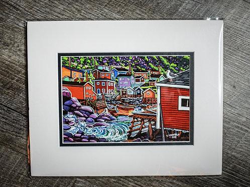 """Francois"" 5X7 Matted Print (Reilly Fitzgerald Artist)"