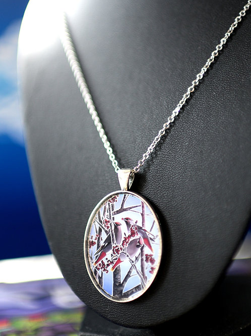 """""""Bohemian Waxwings & Dogberries"""" Necklace"""