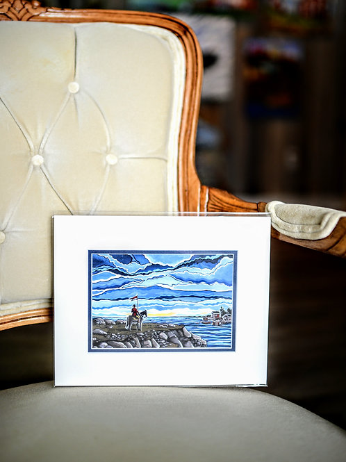 """""""Home And Native Land"""" 5X7 Matted Print (Reilly Fitzgerald Artist)"""