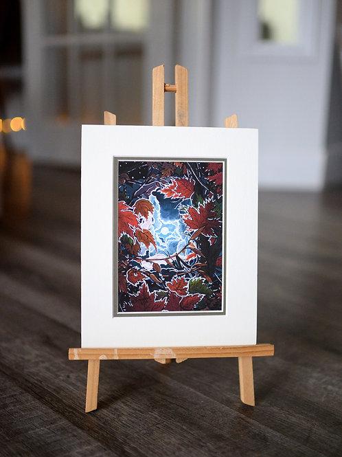 """""""Autumn Veil"""" 5X7 Matted Print"""