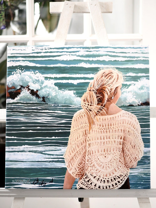 """Danielle"" 20X20 Canvas Print Reilly Fitzgerald Artist"