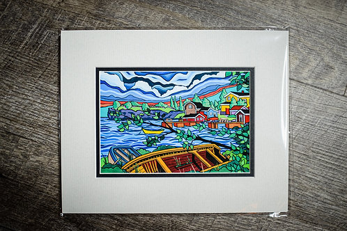 """""""Strong's Point"""" 5X7 Matted Print (Reilly Fitzgerald Artist)"""