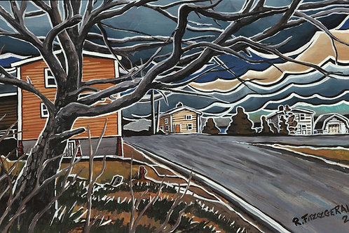 """Marine Drive: Coronavirus Spring"" (2020) Giclee Prints: 9"" X 19"""