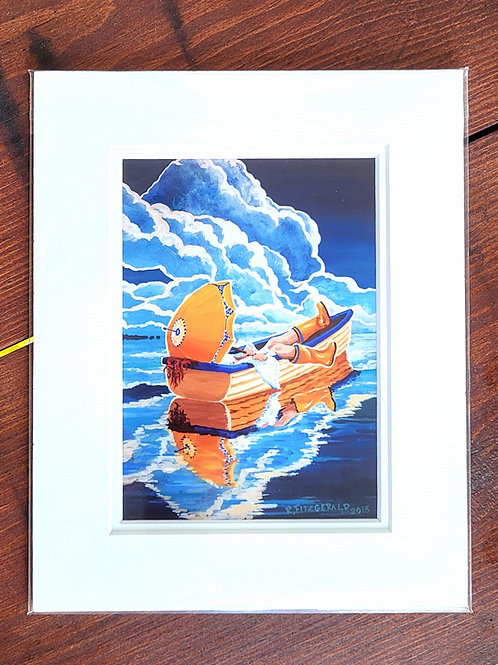 """""""Yellow"""" 5X7 Matted Print Reilly Fitzgerald Artist"""