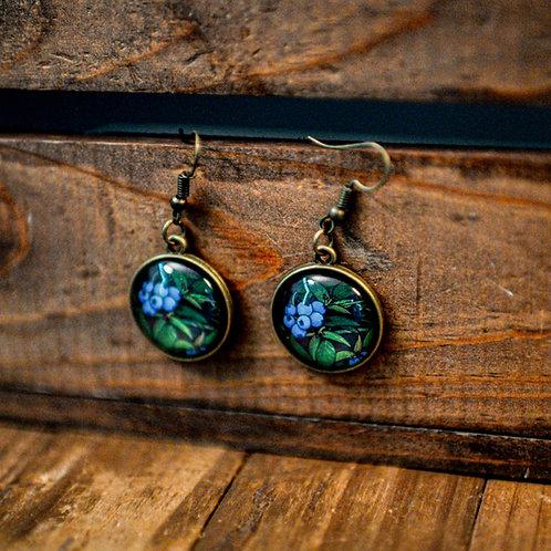 """""""Blueberries"""" Earrings (Hanging)"""