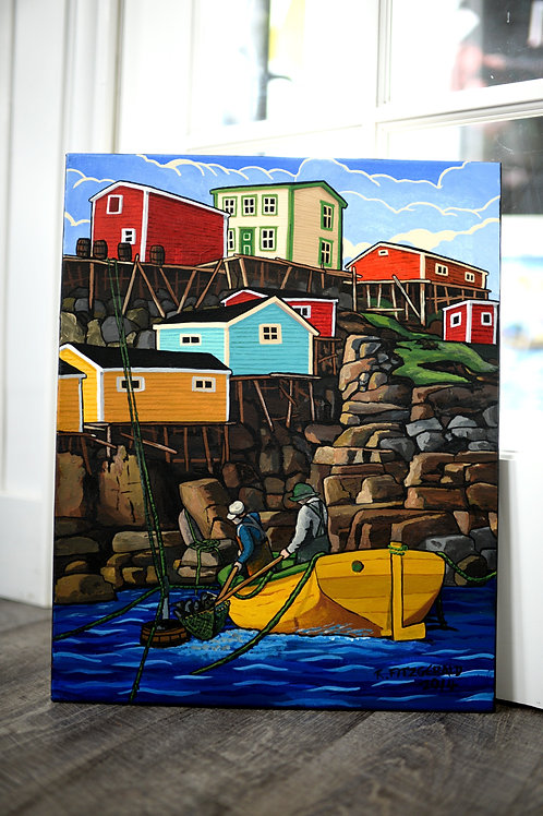 """""""Grates Cove"""" (2014) (20"""" X 16"""") Original by Reilly Fitzgerald"""
