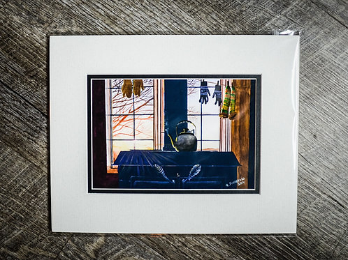 """""""In For The Evening"""" 5X7 Matted Print (Reilly Fitzgerald Artist)"""