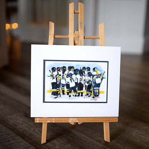 """""""The Girls Team"""" 5X7 Matted Print"""