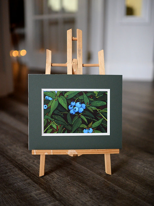 """""""Blueberries"""" 5X7 Matted Print"""